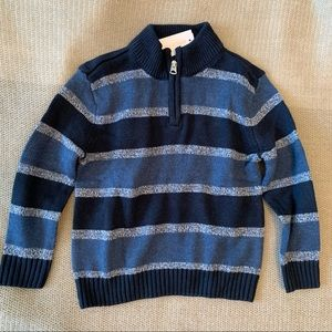 COMMERCE | NWT striped sweater with partial zip